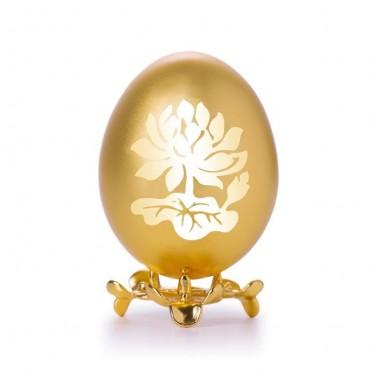 Trứng gà họa tiết hoa lá sen