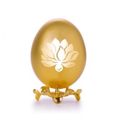 Trứng gà họa tiết bông sen