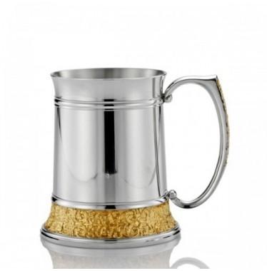 Cốc uống nước họa tiết cổ điển mạ vàng cỡ nhỏ