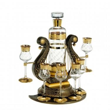 Bộ ly rượu mạ vàng Credan Bismarck