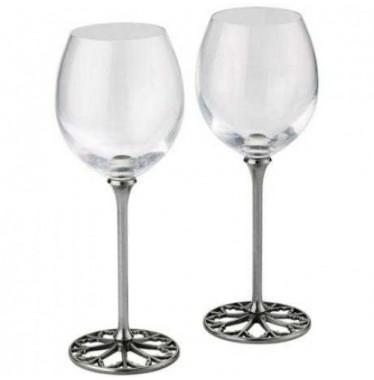 Cặp ly rượu vang họa tiết chân đế