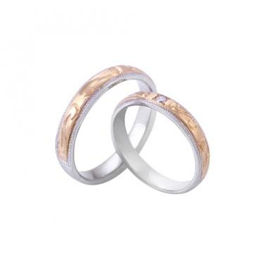 Nhẫn cưới họa tiết 2073LMWR