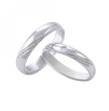 Nhẫn cưới WG kim cương 0712LM