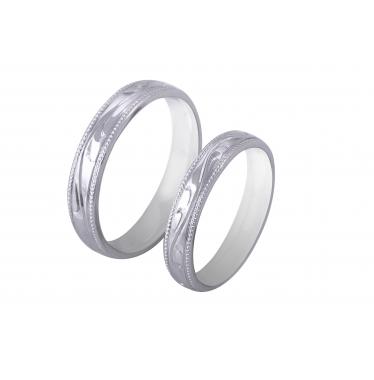Nhẫn cưới WG họa tiết LMWR
