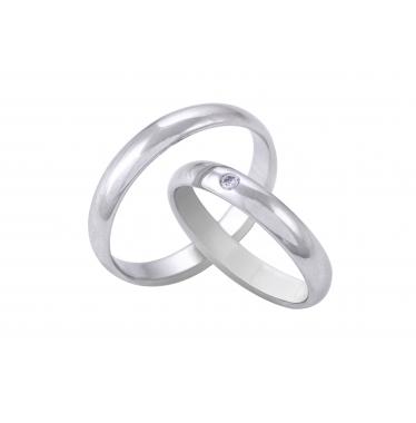 Nhẫn cưới WG kim cương 016LM