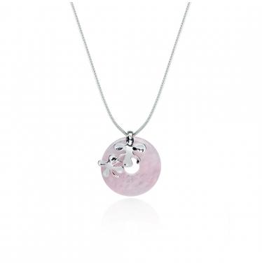 Dây chuyền đá ngọc bích hồng