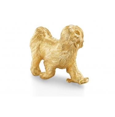 Tượng chó phúc lộc mạ vàng vàng