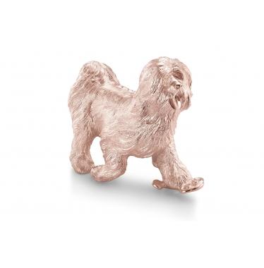 Tượng chó phúc lộc mạ vàng hồng