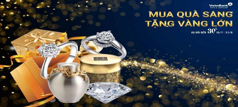 Nhiều ưu đãi khi mua kim cương tại VietinBank Gold